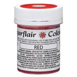 COLORANTE para CHOCOLATE Sugarflair ROJO, colorante liposoluble