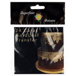 LAMINA ORO 24 Kilates, sugarflair, tartas de boda