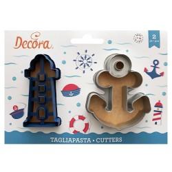CORTANTE Decora FARO y ANCLA, galletas fondant, galletas decoradas