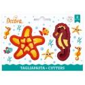 CORTANTE Decora ESTRELLA y CABALLITO de MAR, galletas fondant, galletas decoradas