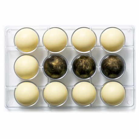 MOLDE para CHOCOLATE ESFERAS, bombones redondos