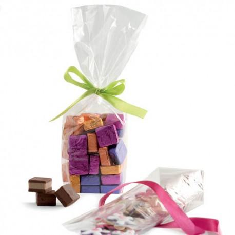 BOLSAS TRANSPARENTES con FONDO RIGIDO, bolsas para dulces bombones galletas