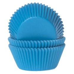 CAPSULAS AZUL CIELO x 1000, pirotines moldes papel cupcakes