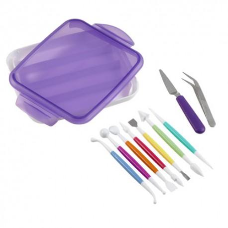 Set herramientas de modelado Wilton, herramientas para fondan y pasta de goma