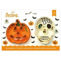 Cortantes Halloween Calabaza sonriente Calavera, galletas fondant, galletas decoradas