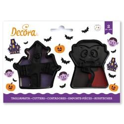 Cortantes Halloween Casa encantada y Vampiro, Decora, galletas fondant, galletas decoradas