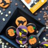 Decoracion comestible con motivos de halloween en pasta de azúcar, Decora, galletas cupcakes decoradas