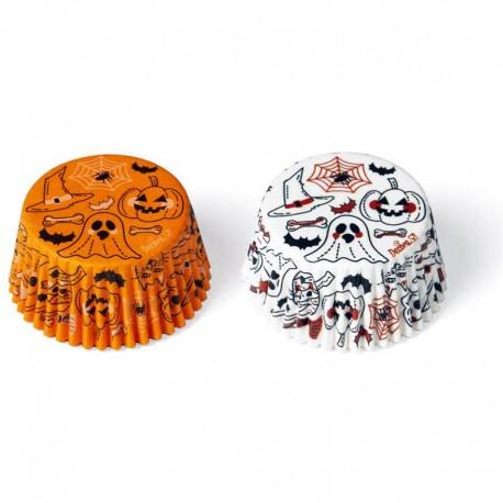 Cápsulas Halloween Calabaza y fantasmA, Decora, DECORA, moldes magdalenas, cupcakes halloween