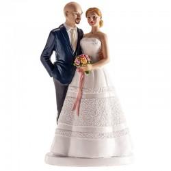 Figura pareja boda novio calvo, tartas boda
