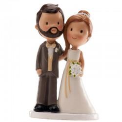 Figura pareja boda old fashion, tartas de boda vintage