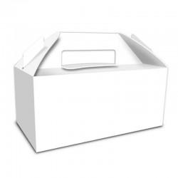Caja Picnic blanca, caja galletas dulces cupcakes