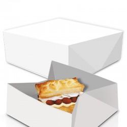 Caja galletas Rectangular blanca 12x18x6 cm