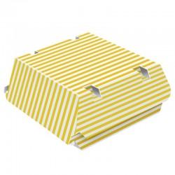 Caja hamburguesa Rayas 15x15x8 cm