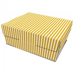 Caja take away Rayas 19x11x7 cm.