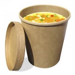 Vaso de papel craft para comida fría y caliente