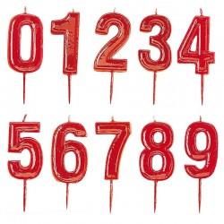 Velas números Helvet 0 al 9