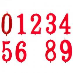 Velas números Century 0 al 9