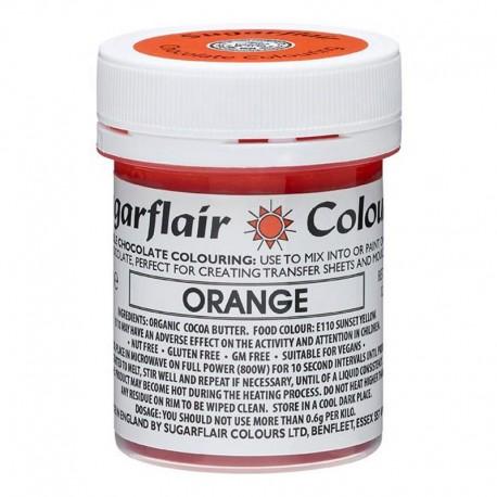 COLORANTE para CHOCOLATE Sugarflair naranja, colorante liposoluble