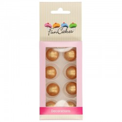 Bolas de chocolate Oro x 8