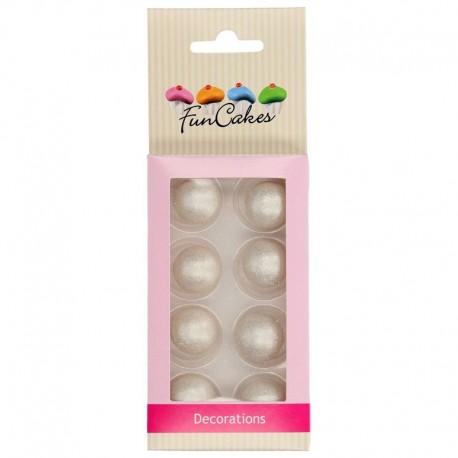 Bolas de chocolate Plata Funcakes, decoracion postres