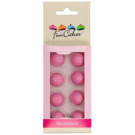 Bolas de chocolate rosa Funcakes, decoracion postres
