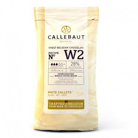 Callets Chocolate blanco, bombones callebaut