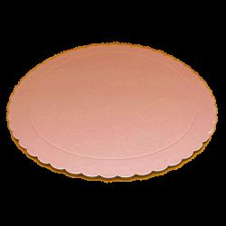 Base redonda rizada Rosa bebe 25 cm