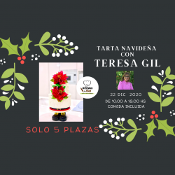 Master Class TARTA NAVIDAD Teresa Gil, 50% RESERVA
