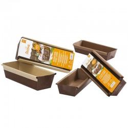 Molde rectangular Plum Cake, molde de papel desechable para bizcochos, Decora