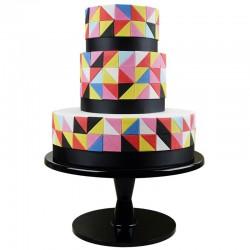 Multi cortantes PME, tartas decoradas geometricas, fondant angulo recto