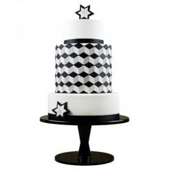 Multi cortantes PME, tartas decoradas geometricas, fondant diamante