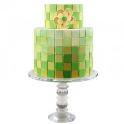 Multi cortantes PME, tartas decoradas geometricas, fondant cuadrado