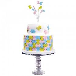 Multi cortantes PME, tartas decoradas geometricas, fondant puzzle