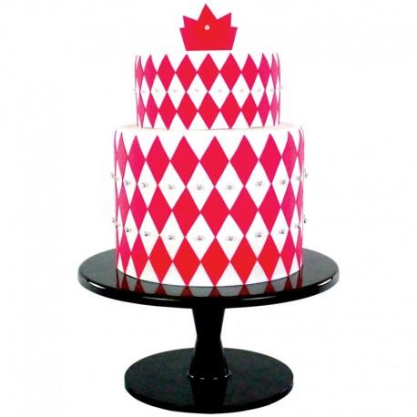 Multi cortantes PME, tartas decoradas geometricas, fondant diamante grande
