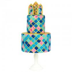 Multi cortantes PME, tartas decoradas geometricas, fondant linterna marroqui