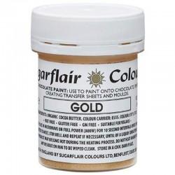 COLORANTE para CHOCOLATE Sugarflair oro, colorante liposoluble