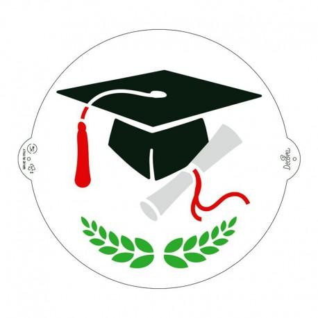 plantilla stencil graduación escolar birrete, decoracion tartas, Decora