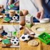 Cortantes fútbol balon y campo, Decora, galletas decoradas fondant