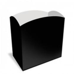 Cubo de papel Negro 9x8x5 cm