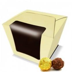 Caja cupcake Castaño champagne 11x11x12 cm