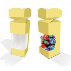 Caja carton craft con ventana,macarons, bombones, galletas