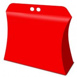 Caja ovalada roja, galletas dulces