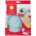 Cortantes Wilton Kit galletas globo de nieve, decoracion galletas navidad
