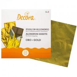 Envoltorio aluminio Oro, hojas de aluminio para bombones y chocolate, decora