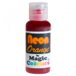 Colorante gel neón naranja, colorante alimentario, fondant