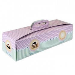 Caja rectangular tartas, brazo gitano