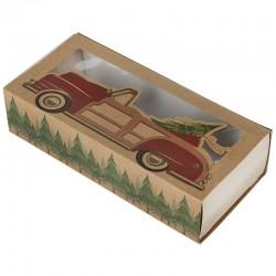 Caja deslizante Navidad, bombones galletas, Wilton