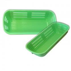 Banneton rectangular plástico, fermentación masas pan