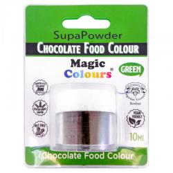 Colorante polvo verde para chocolate, liposoluble, Magic Colours