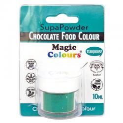 Colorante polvo turquesa para chocolate, liposoluble, Magic Colours